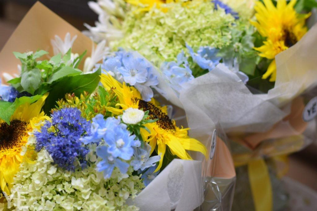 ひまわり 可愛い 花束 オシャレ 北千住 花屋