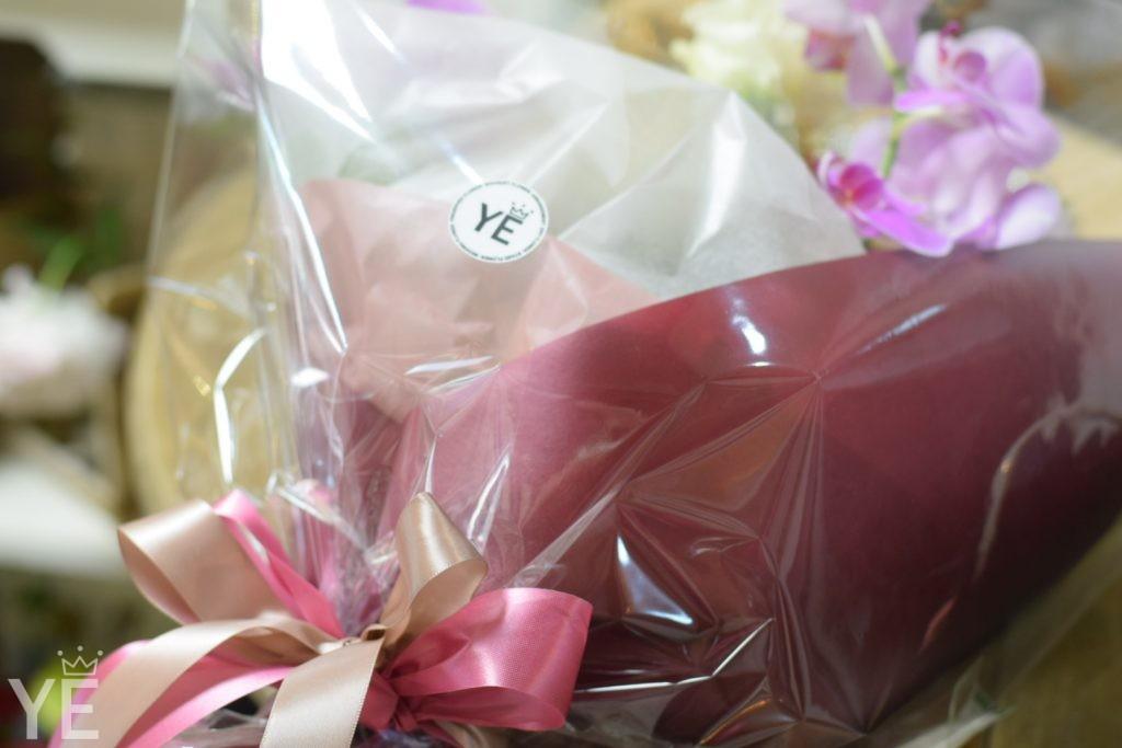 オシャレ 花屋 ハナユエ 花束 胡蝶蘭 誕生日