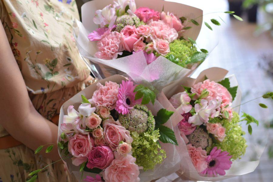 花束 御祝い オシャレ 可愛い ピンク 送別 北千住 花屋