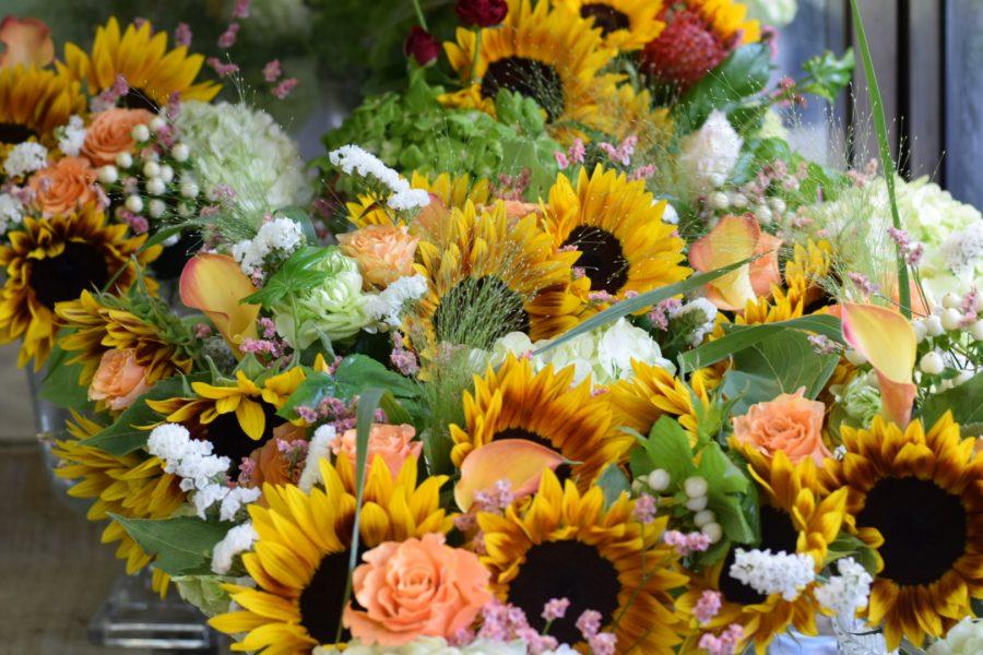 花束 ブーケ ひまわり