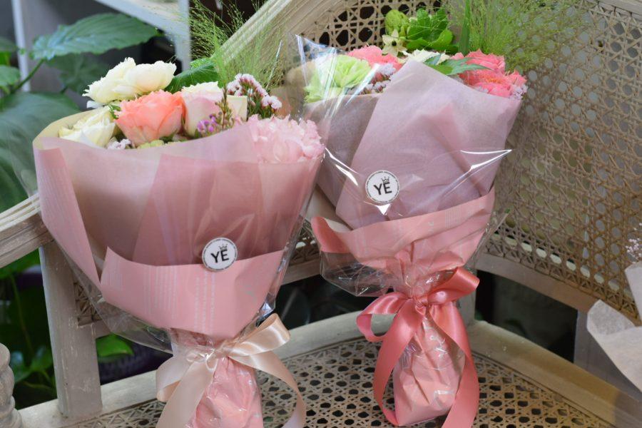 ブーケ 花束 花屋 ハナユエ オシャレ ピンク 女性