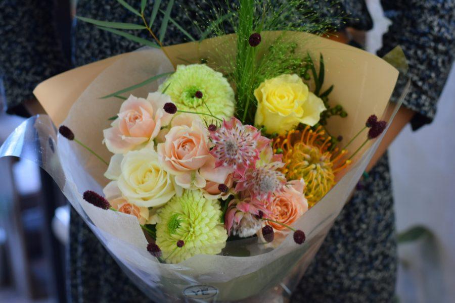 バラ ガーベラ 花束